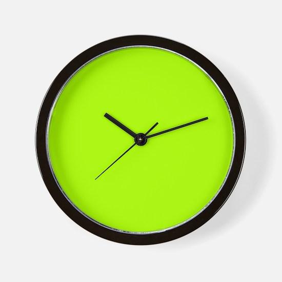Fluorescent Green Solid Color Wall Clock