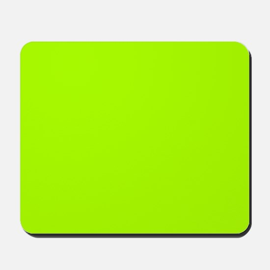 Fluorescent Green Solid Color Mousepad