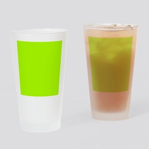 Fluorescent Green Solid Color Drinking Glass
