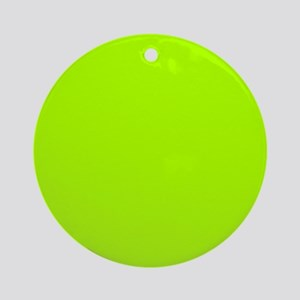 Fluorescent Green Solid Color Round Ornament