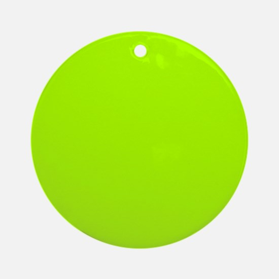 Fluorescent Green Solid Color Round Ornament
