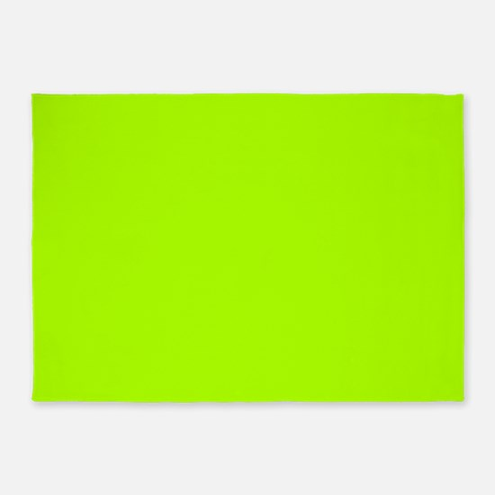Fluorescent Green Solid Color 5'x7'Area Rug