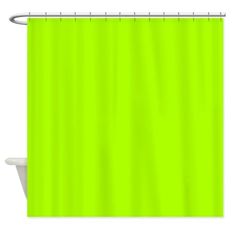 Fluorescent Green Solid Color Shower Curtain By Admin CP133666635