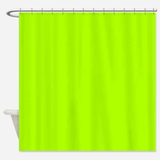 Fluorescent Green Solid Color Shower Curtain