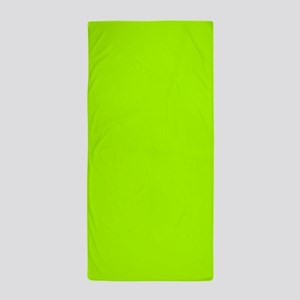 Fluorescent Green Solid Color Beach Towel
