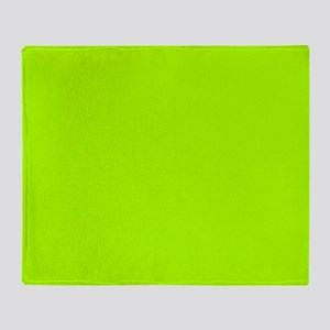 Fluorescent Green Solid Color Throw Blanket