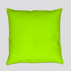 Fluorescent Green Solid Color Everyday Pillow