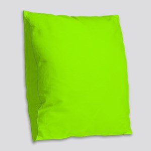 Fluorescent Green Solid Color Burlap Throw Pillow