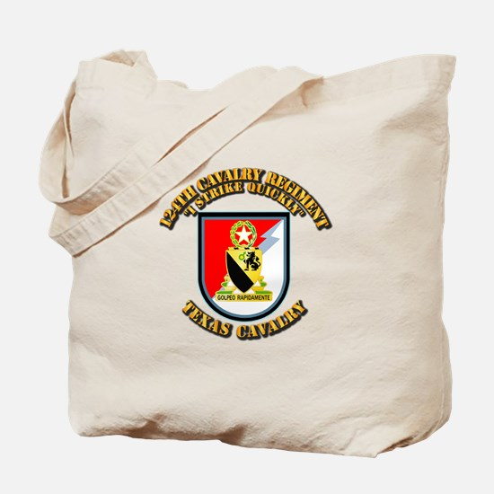 Flash - 124th Cavalry Regt Tote Bag