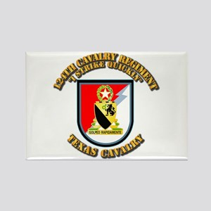 Flash - 124th Cavalry Regt Rectangle Magnet