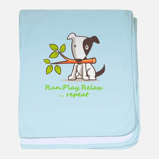Cute Adopt shelter dog baby blanket