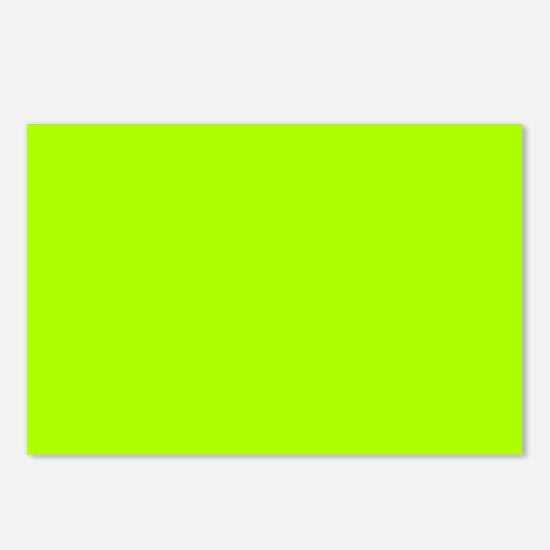 Fluorescent Green Solid C Postcards (Package of 8)