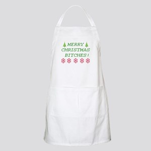 Merry Christmas Bitches Light Apron