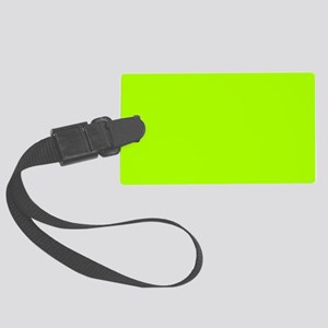 Fluorescent Green Solid Color Large Luggage Tag