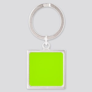 Fluorescent Green Solid Color Keychains
