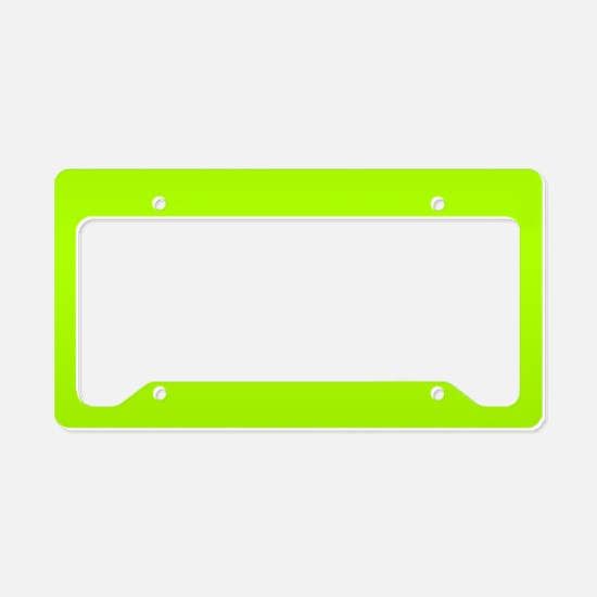 Fluorescent Green Solid Color License Plate Holder