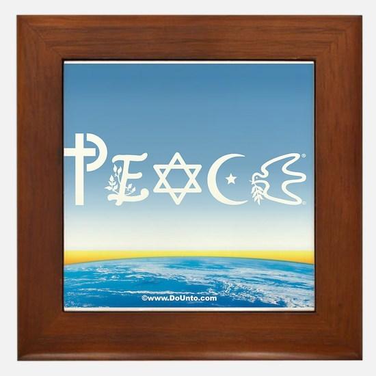 Peace On Earth at Sunrise Framed Tile