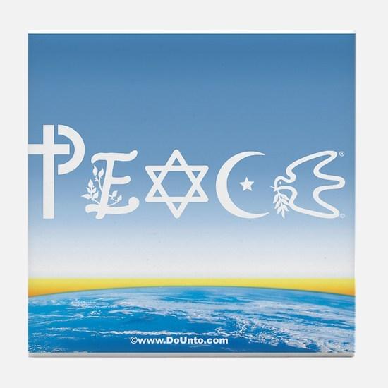 Peace On Earth at Sunrise Tile Coaster