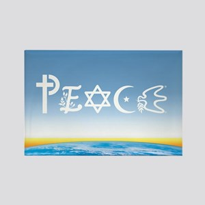 Peace On Earth at Sunrise Rectangle Magnet