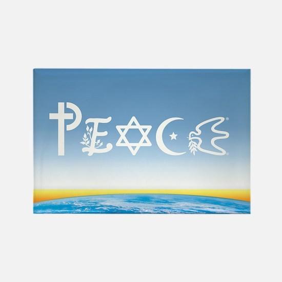 Peace On Earth at Sunrise Rectangle Magnet