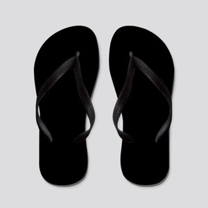 Simply Black Solid Color Flip Flops