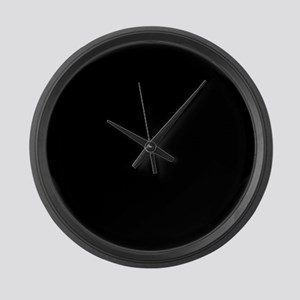 Simply Black Solid Color Large Wall Clock