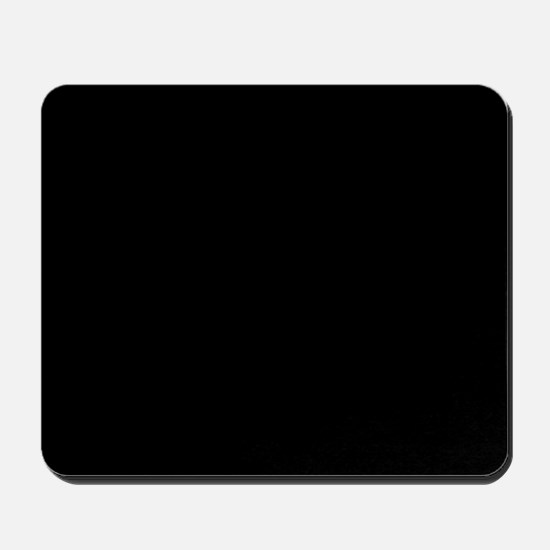 Simply Black Solid Color Mousepad