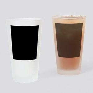 Simply Black Solid Color Drinking Glass