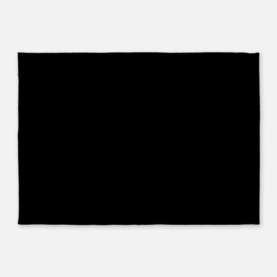 Simply Black Solid Color 5'x7'Area Rug
