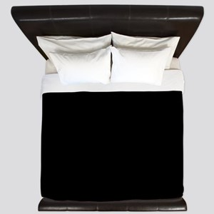 Simply Black Solid Color King Duvet