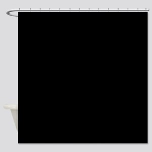 Simply Black Solid Color Shower Curtain