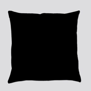 Simply Black Solid Color Everyday Pillow