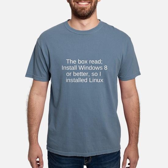 linux funny geek shirt windows 8 T-Shirt
