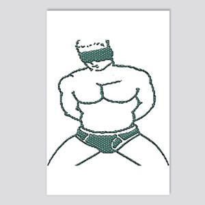 BLINDFOLD SUBMISSION/TEAL Postcards (Package of 8)