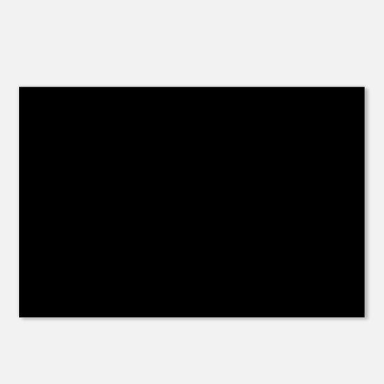 Simply Black Solid Color Postcards (Package of 8)