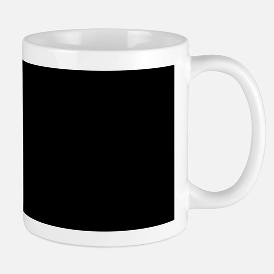Simply Black Solid Color Mugs