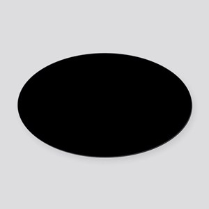 Simply Black Solid Color Oval Car Magnet