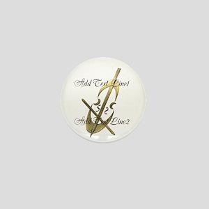 Gold Cello Music Musician Mini Button