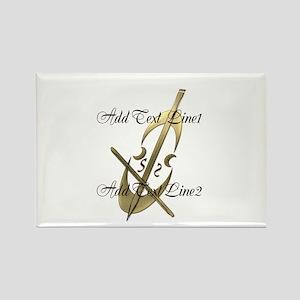 Gold Cello Music Musician Magnets