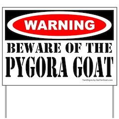 Beware Pygora Goat Yard Sign