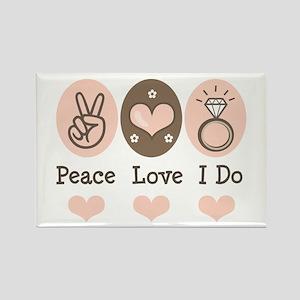 Peace Love I Do Bride Rectangle Magnet