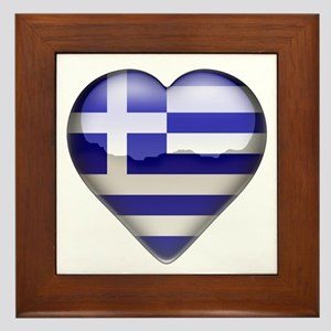 Greece Heart Framed Tile