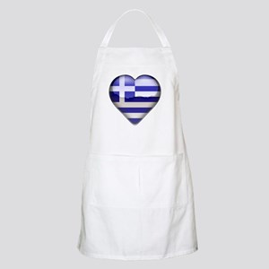 Greece Heart BBQ Apron