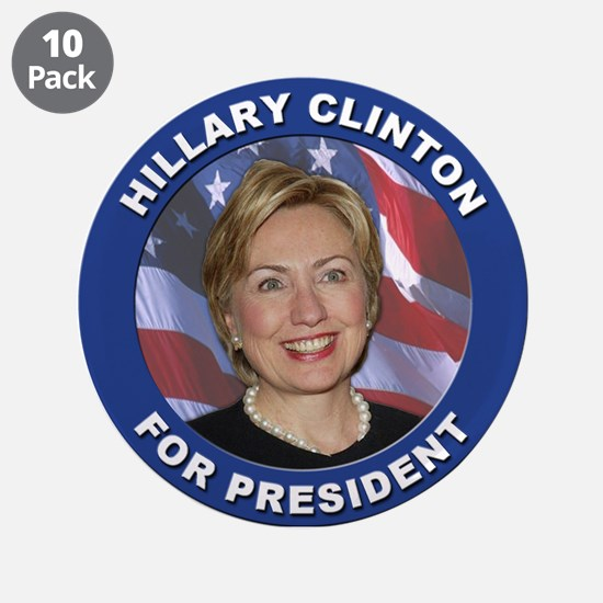 """Hillary Clinton for President 3.5"""" Button (10 pack"""
