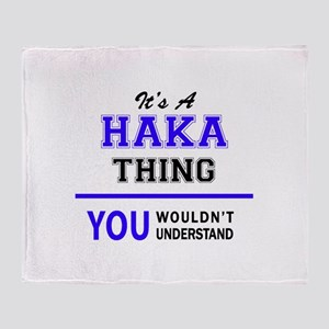It's HAKA thing, you wouldn't unders Throw Blanket