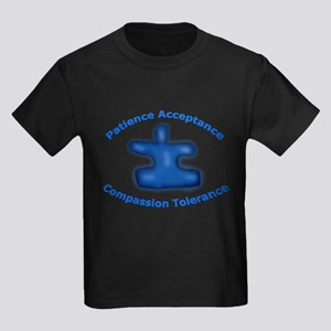 Autism Puzzle Piece Kids Dark T-Shirt