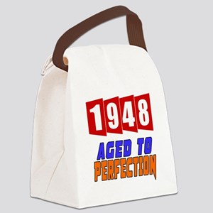 1948 Aged To Perfection Canvas Lunch Bag