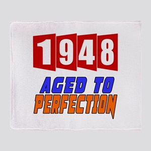 1948 Aged To Perfection Throw Blanket