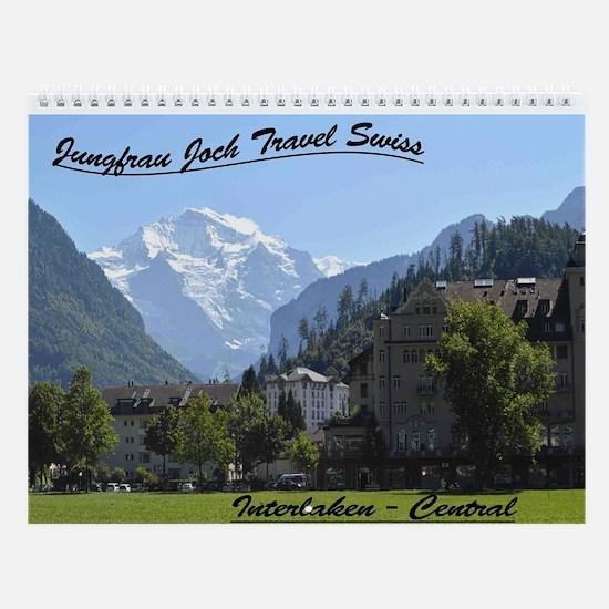 Jungfrau Joch Travel Swiss Wall Calendar