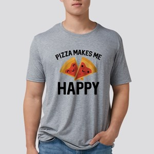 Pizza Makes Me Happy White T-Shirt